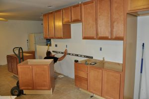 Time to install the cabinets