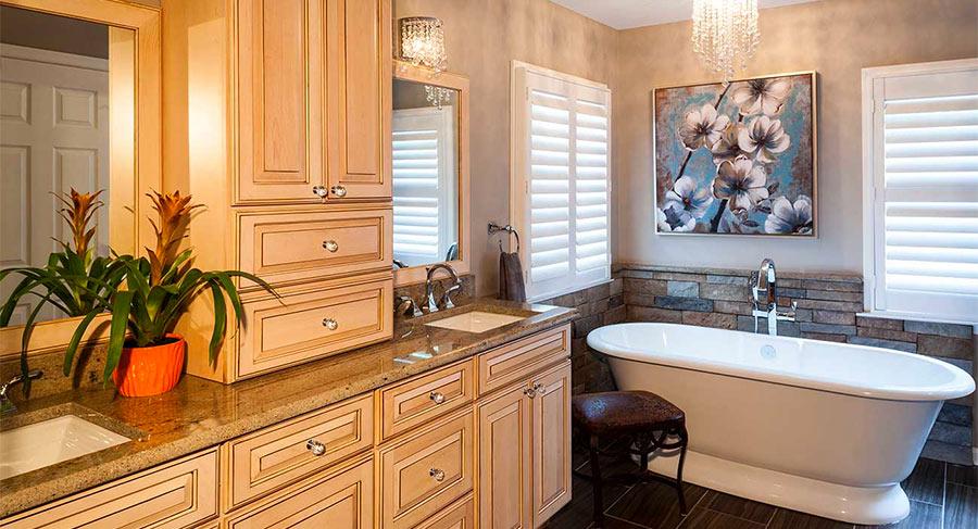Vanity with separate sinks