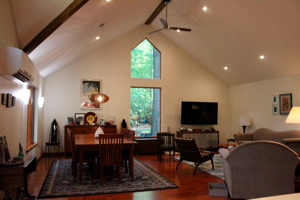 Example of living area after design/build remodeling
