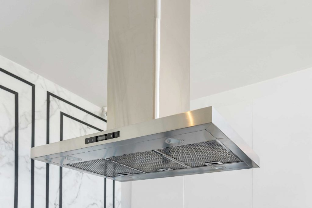 A modern stove hood can help safely ventilate your kitchen