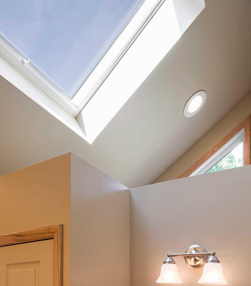 Skylights provide great natural lighting
