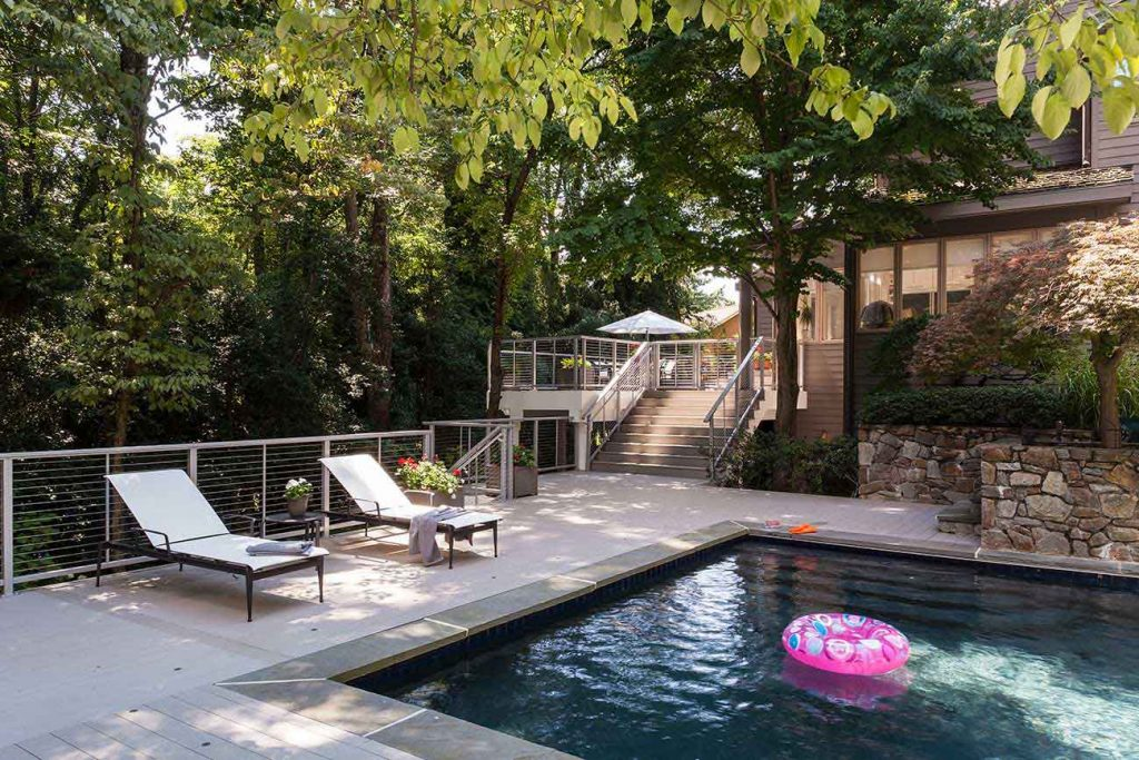 Multi-Level Deck with Swimming Pool