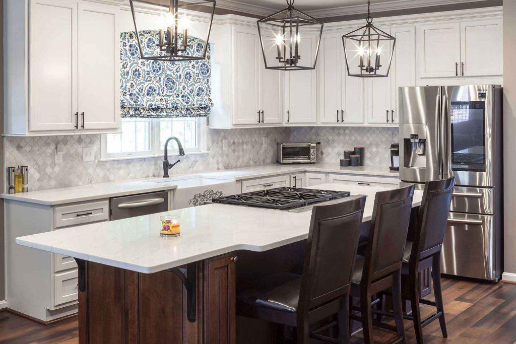 Kitchen upgrade with diamond-patterned backsplash